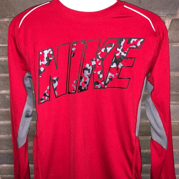 b1cfcc8db Boy's Nike Dri-Fit Shirt with Camo Lettering Large.  M_5b0d919836b9deee3d582116
